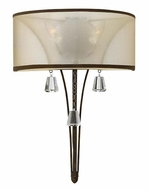 Fredrick Ramond FR45602FBZ Mime 2 Candle French Bronze Wall Light Sconce - 20 Inches Tall