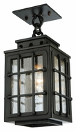 Meyda Tiffany 136040 Pontrefract Lantern Seeded Glass 12 Inch Tall Ceiling Lamp - Traditional
