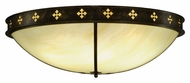 Meyda Tiffany 137448 Byzantine Large 46 Inch Diameter Caramel Ony Brushed Gold Flush Lighitng