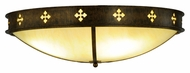 Meyda Tiffany 137454 Byzantine Medium Caramel Onyx Brushed Gold Ceiling Light