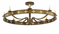 Meyda Tiffany 138435 Byzantine Traditional 8 Candle Semi Flush Ceiling Light Fixture