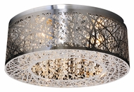 PLC 77747-PC Nest 16 Inch Diameter Contemporary Flush Lighting - Polished Chrome