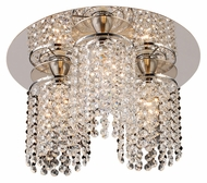 PLC 72198-PC Rigga Crystal 3 Lamp Polished Chrome Overhead Lighting