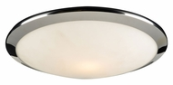 PLC 7657-PC Preston Polished Chrome 12 Inch Diameter Flush Mount Ceiling Light - Small