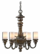 Uttermost 21251 Torreano Solid Wood 23 Inch Diameter 6 Light Chandelier Lamp