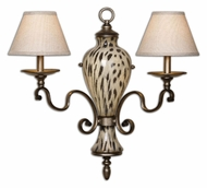 Uttermost 22489 Malawi 2 Lamp Cheetah Print 25 Inch Wide Wall Sconce