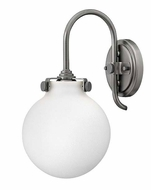 Hinkley 3173 Congress Round Opal Glass 13 Inch Tall Lighting Sconce