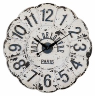 Uttermost 06651 De Louvre Vintage Style Aged Ivory 31 Inch Diameter Wall clock