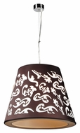 PLC 73037-BLACK Infinity 14 Inch Diameter Polished Chrome Hanging Lamp
