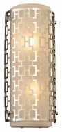 PLC 12151-PC Ethen Polished Chrome 15 Inch Tall Modern Wall Sconce Light