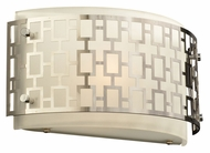 PLC 12153-PC Ethen 12 Inch Wide Polished Chrome Contemporary Wall Light Fixture