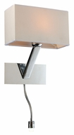 PLC 73050-PC Torsion 12 Inch Tall Contemporary Wall Light With LED Gooseneck