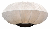 PLC 73014-IVORY Mars 16 Inch Wide Silk Shade Wall Lighting - Modern