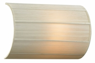 PLC 73060-BEIGE Ellipse-I 12 Inch Tall Contemporary Linen Shade Wall Light Fixture