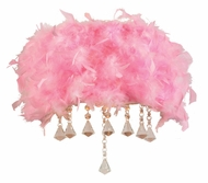 PLC 73045-PINK Peacock 12 Inch Wide Feathered Wall Lighting Fixture