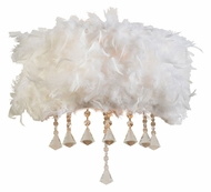 PLC 73045-WHITE Peacock Feathered Contemporary 14 Inch Tall Wall Light