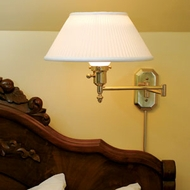 Transitional Bedroom Wall Reading Lamps