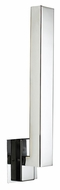 PLC 7575PC Teton 18 Inch Tall Polished Chrome Finish Modern LED Wall Light