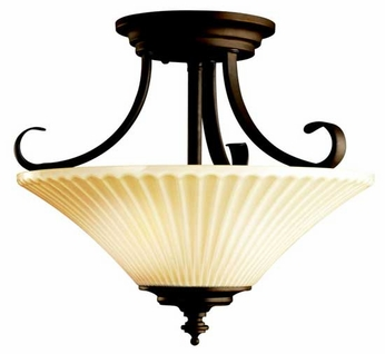 Kichler 42155OZ Abbeyville Semi-Flush Ceiling Light in Olde Bronze