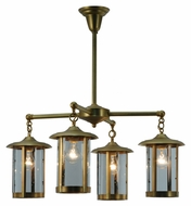 Meyda Tiffany 140492 Craftsman Signature Fulton Prime 4 Lamp Ceiling Lighting Fixture