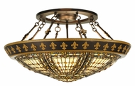 Meyda Tiffany 141232 Fleur-de-lis 28 Inch Diameter 4 Lamp Flush Mount Lighting