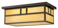 Meyda Tiffany 141527 Hyde Park 22 Inch Wide Double Bar Craftsman Flush Lighting
