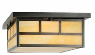 Meyda Tiffany 142860 Hyde Park 22 Inch Wide Double Bar Craftsman Ceiling Light