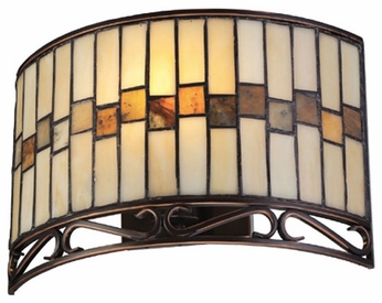 Lite Source LSC71154W Omora ADA Compliant Tiffany Wall Sconce