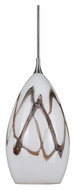 Cal UP-1024/6-BS Unipack 4 Inch Diameter Braided Steel Mini Pendant Light Fixture