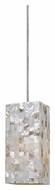 Cal UP-1029/6-BS Unipack 5 Inch Diameter Mini Braided Steel Cord Pendant Lamp