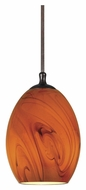 Cal UP-1036/6-RU Unipack Rust Finish 7 Inch Tall Mini Drop Lighting Fixture