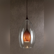 Cal UP-1048/6-RU Unipack Contemporary 8 Inch Tall Mini Pendant Light - Rust