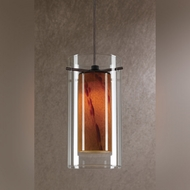 Cal UP-1053/6-RU Unipack 8 Inch Tall Contemporary Rust Finish Mini Pendant