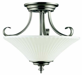 Kichler 42155BPT Abbeyville Semi-Flush Ceiling Light in Brushed Pewter