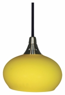 Cal UP-927-YEL/6-BK Unipack Yellow Glass 5 Inch Diameter Modern Mini Pendant Lamp