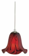 Cal UP-972/6-BS Unipack Transitional Style 4 Inch Tall Mini Glass Pendant Lamp