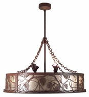 Meyda Tiffany 109778 Chandel-Air Whispering Pines Uplights Rustic Pendant Light