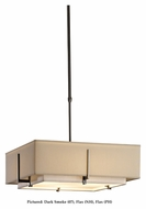 Hubbardton Forge 139630 Exos Square 2 Shade 20 Inch Diameter Fabric Lighting Pendant