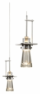 Hubbardton Forge 161065 Erlenmeyer Mini 4 Inch Diameter Pendant Light Fixture - Wrought Iron