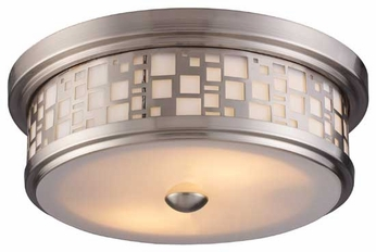 Landmark 700252 Tiffany Flushes Drum Ceiling Light in Satin Nickel