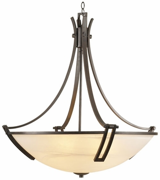 PLC 14866 Highland Bowl Pendant Light in Oil Rubbed Bronze