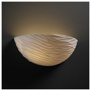 Justice Design POR8802WAVE Waves Porcelain Wall Sconce
