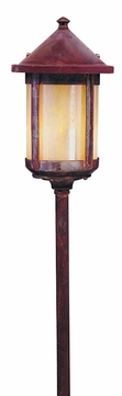 Arroyo Craftsman LV24-B6S Berkeley Outdoor Low Voltage Landscape Light - 31.625 inches tall