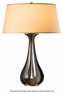 Hubbardton Forge 273085 Lino Fabric Shade 25 Inch Tall Table Top Lamp