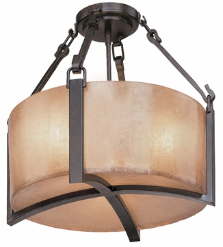 Troy C1740-ABZ Austin 3 Light Wrought Iron Semi Flush Ceiling Fixture