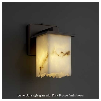 Justice Design 867117 Montana Wall Sconce with Broken Rim Square Glass