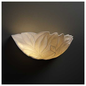 Justice Design POR8801LEAF Leaves Porcelain Wall Sconce