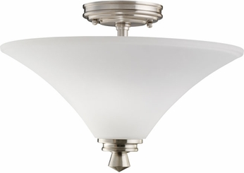 Kichler 3719NI Wharton Brushed Nickel Contemporary 2-Light Semi Flush
