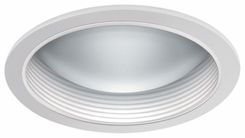 Liton LR366 6 Inch Compact Fluorescent Modern Recessed Glass Dome with Baffle Trim