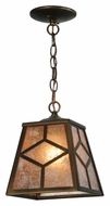 Meyda Tiffany 141534 Diamond Mission 14 Inch Tall Antique Copper Craftsman Mini Pendant